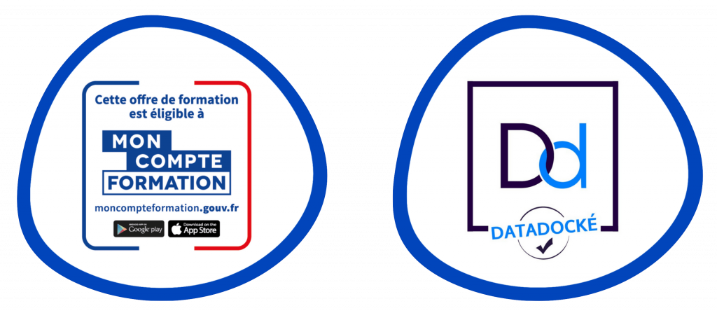 logo cpf moncompteformation.gouv.fr et logo du datadock